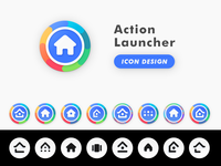 Action Launcher Product Icon Design
