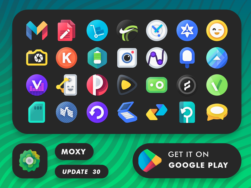 Moxy Android Icons icon pack store play gogole update layout preview android icons moxy