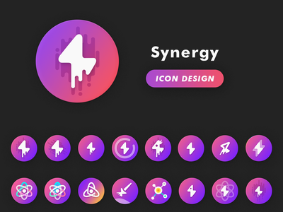 Synergy Icon Design Progress device samsung theme android synergy shape product logo icon design material new design icons