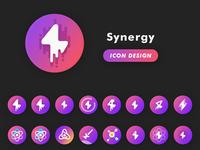 Synergy Icon Design Progress
