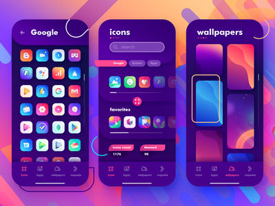 Icons Dashboard App google icons gladient icon pack logo gradients illustaration design ios android mobile ux google wallpapers app ui dashboard
