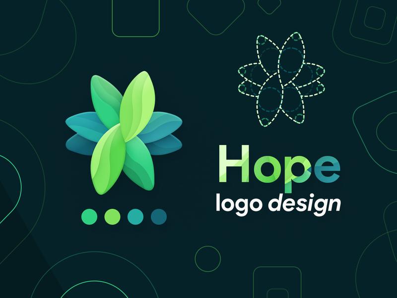 Hope logo design concept guideline icon design ios app android icon product icon logo design illustraion plant hope design logo