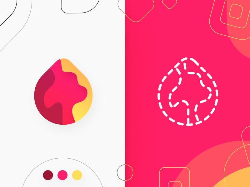 Fire Logo Design application android app ios android icon banner illustraion concept design logo fire