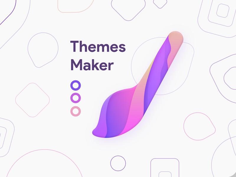 Themes Maker logo design app logotype themes ios android product icons logodesign ilustration design art concept icon logo design