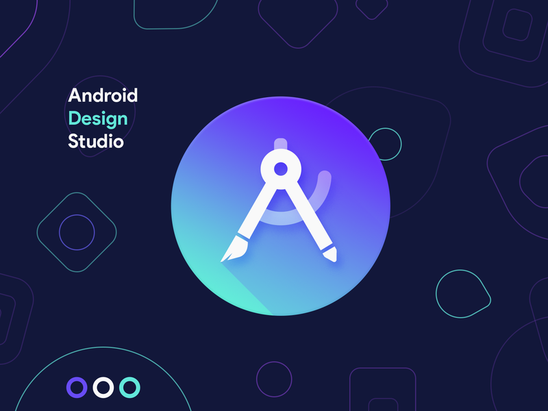 Android Design Studio android icon ios icon windwos icon product icon illustration development android studio studio design android logo icon