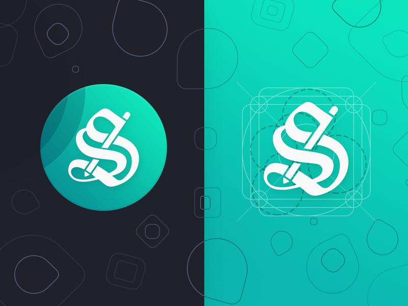 Stylish Text Product Icon goldenratio golden illustraion app ios andorid icon design logo text stylish