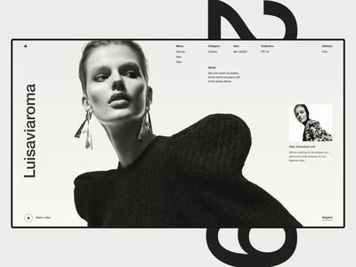 Luisaviaroma. e-shop ecommerce minimal design web ui ux melt clean website promo photo grid typogaphy slider fashion e-commerce interface interaction concept animation after effect