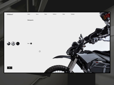 Moto platform - homepage concept news detail motion layout website design ui ux web drivers motocross minimal clean home page photo typography interaction grid concept animation after effect