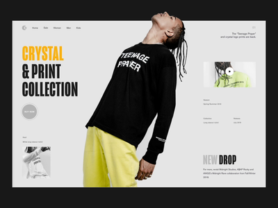Teenage Prayer sketch modern website motion ui layout fashion web ui ux minimal e-commerce photo clean design after effect typography interaction grid animation concept