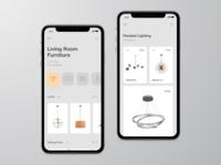 Furniture. App concept