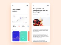 Weight Loss App Concept