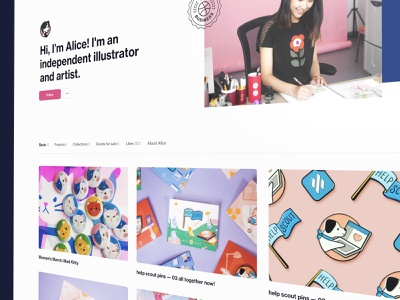 Profiles to express yourself illustration website design ux ui teaser dribbble profile