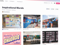 Collections share inspirational murals collection collections dribbble shots branding website design ux ui