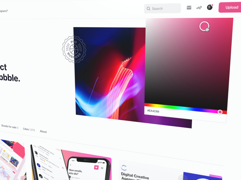Your own color? yes plz dribbble branding custom color picker website design ux ui