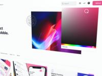 Your own color? yes plz dribbble branding custom color picker website design ux ui