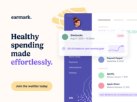 Introducing Earmark. dashboard web interface ux typography design budget money finance ui app website landing page