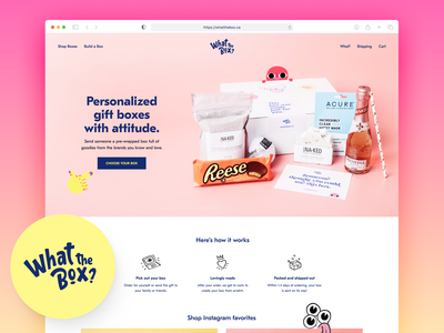What The Box? typography gift box photography ux web branding design ui website gift boxes gifts