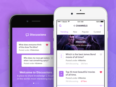 Discussions App channels groups chat discussions ios app iphone app iphone 6
