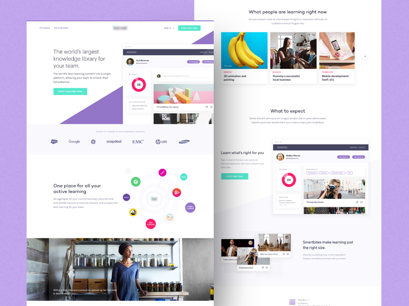 A Lovely, Little, Learning Landing Page 🏫 design branding desktop app purple education learning web