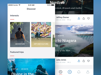 Lonely Planet—Discover the world with Trips 🌎 type icon ux lonely planet typography app ios ui design
