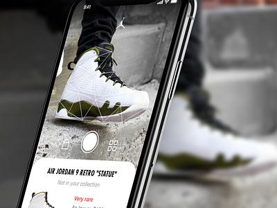 Gotta collect them all app camera shoes basketball iphone x ios ux jordan nike ui design