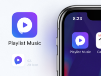 Playlist Music - App Store Icon 📲