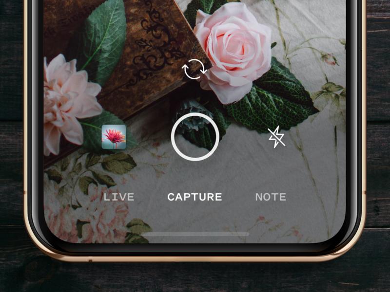📸 mobile design camera app iphone xs ux ui ios drip