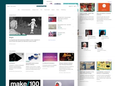 Kickstarter Homepage Updates