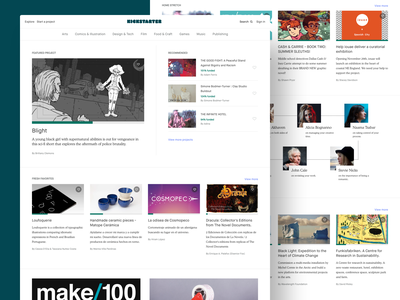 Kickstarter Homepage Updates branding layout logo clean white web site kickstarter typography design ui ux website