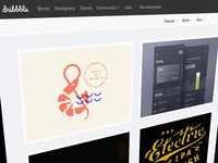 Fresh from Dribbble: New Categories & Filters!