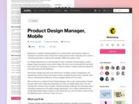 Job listing redesign
