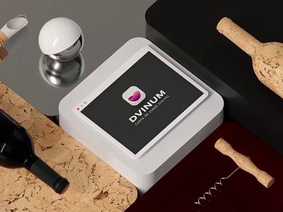 Dvinum Motion Graphics 3D creative after effect qr code qrcode qr tablet ipad restaurant app winery motiongraphics 3d animation 3d art 3d wine bottle wine label wine app