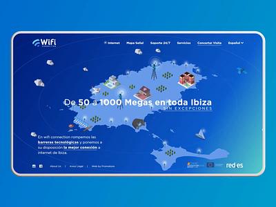 Internet Responsive Website Ibiza three.js mobile design webdesign wifi internet responsive design responsive webgl creative animation 3d animation motiongraphics