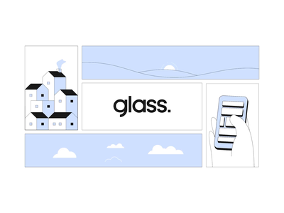 Corporative motion graphics Glass by Gaviota creative logo branding illustration weather time bioclimatic window truck glass design 2d animation 2d animation after effect motiongraphics