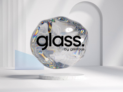 Motion graphics logo - Glass by Gaviota shadows light 3d animation 3d octane cinema 4d octanerender brand illustration art logotypes branding logo design graphic design logodesign logotype logos logo
