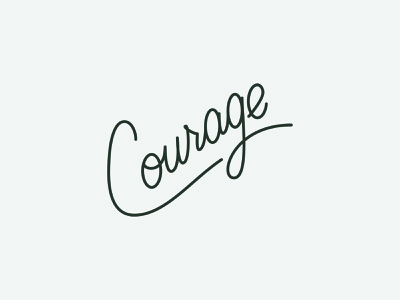 Courage - Vector cursive courage hand lettering vector