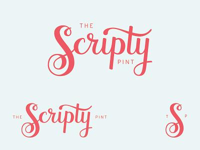 The Scripty Pint Logo - WIP branding logo vector hand lettering