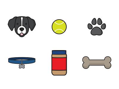 Dyson Icons tennis ball paw print bone dog