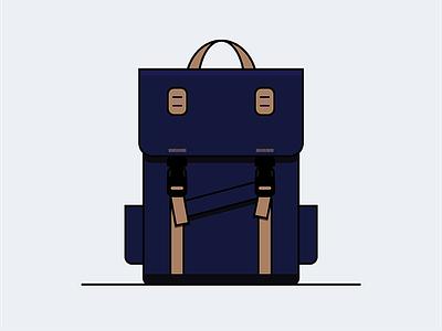 Backpack vector backpack illustration icon