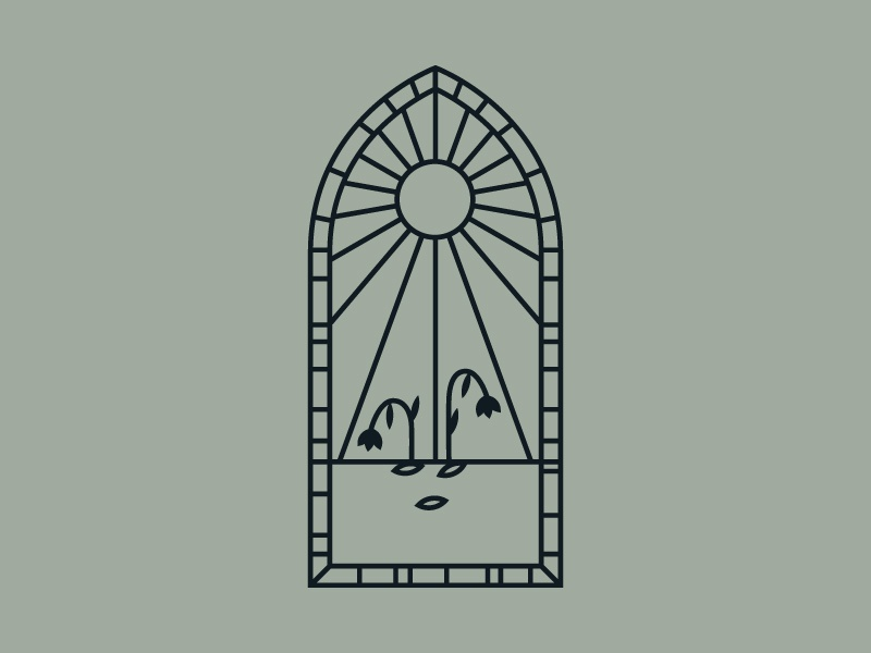 Parable of the Seeds illustration vector lineart parable sun stained glass