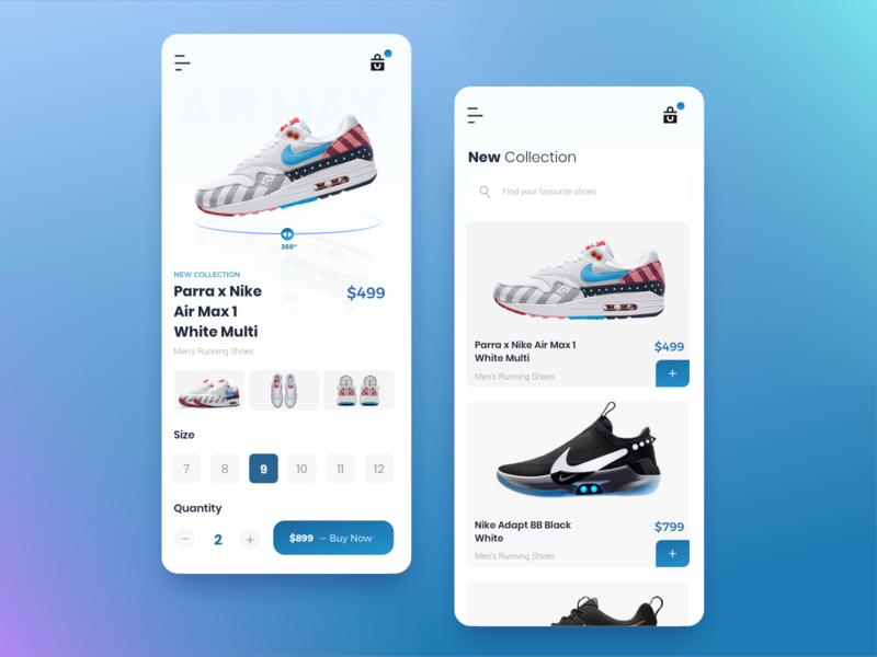 Nike Shoes App Design product design minimal ios fashion sketch shoes app nike shadow app ux shoes ui