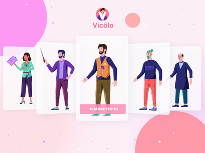Vicolo Illustrations Kit animation card app design ux design ui design ui8 illustrations kit design character screen landing page isometric illustration