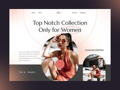 CLRK - Fashion Website wardrobe ui screen hypebeast model beautiful women landing page streetwear modern website fashion