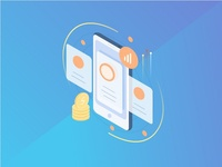 Isometric Icons #1 homescreen shopping finance icon screen smartphone android isometric