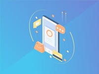 Isometric Icons #2 homescreen shopping finance icon screen smartphone android isometric