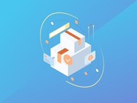 Isometric Icons #3 homescreen shopping finance icon screen smartphone android isometric