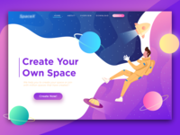 Space Header Illustration