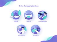 Online Transportation Icon