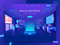 Build Your Team Illustrations Header Concept