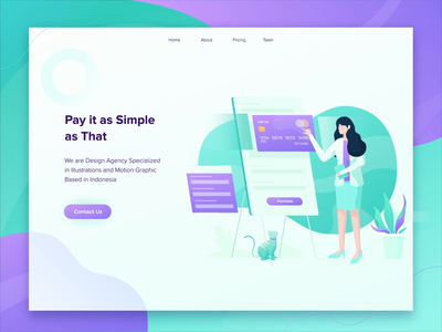 Payment Illustrations flat illustrations cat shopping credit card landing page payment
